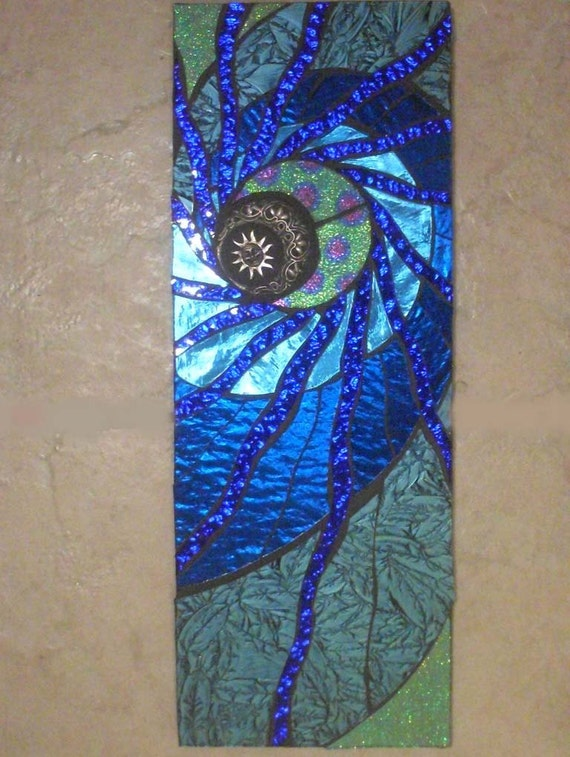 Celestial Handmade Mosaic Wall Hanging Moon And Sun