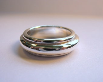 Big Solid Sterling Silver Ring