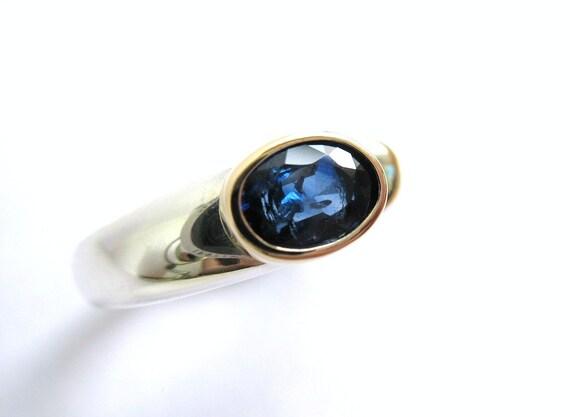 Deep Blue Sapphire Band