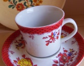 red design mini cup and saucer