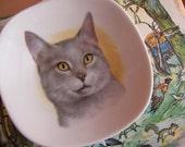 vintage schumann kitty plate