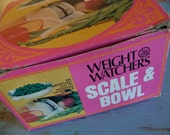 1972 weight watchers scale and bowl