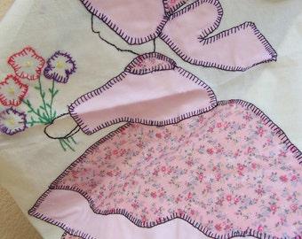sun bonnet quilt piece