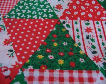 patchwork holiday fabric