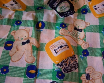 old fashioned teddy bear fabric