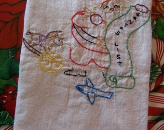 santa list towel