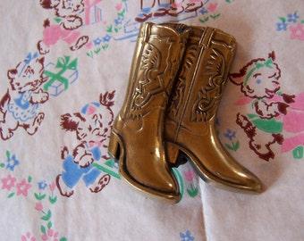 baron brass cowboy boots belt buckle
