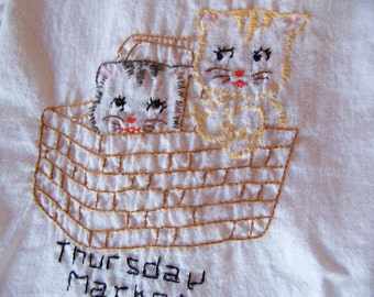 thursday market  kitchen towel
