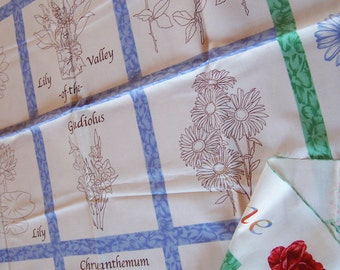 flower of the month club cotton  fabric