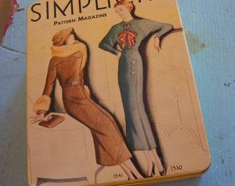 very lovely vintage simplicity tin