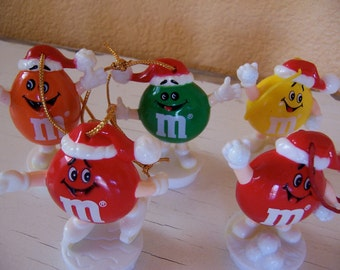plastic m and m ornaments