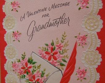 vintage valentine for grandmother