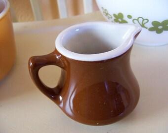 vintage hall brown creamer pitcher