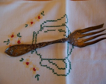 oxford silver plate co. meat fork