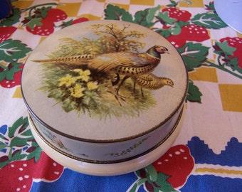 riley's  pheasants  toffee tin