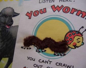 1942 fuzzy worm card