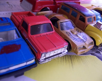 lot of vintage toy cars and trucks