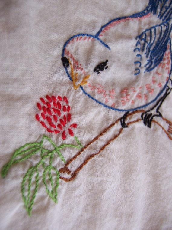 adorable birdie towel