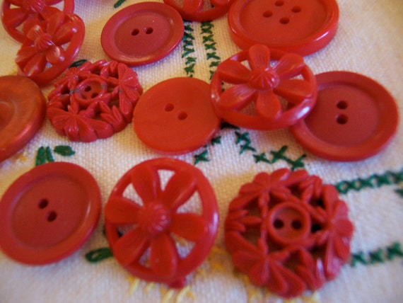 fun variety of red buttons