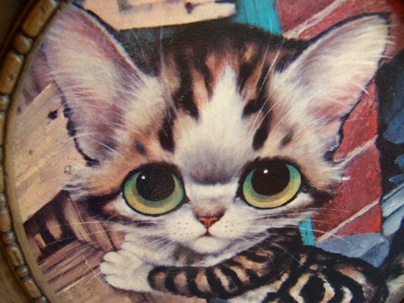 pity kitty by gig wall hanging