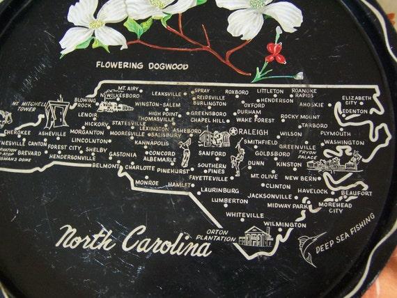 old north carolina serving tray