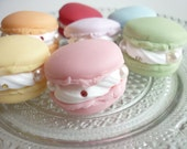 7pcs---Big  Macaron---Pearl --- French Chic ---Paris --- Swarovski --- Charm With Clasp