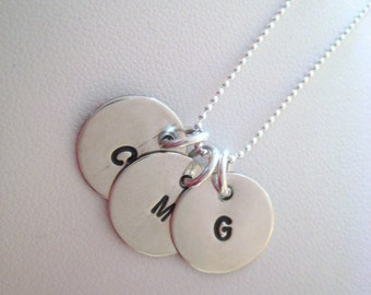 Sterling Silver Multi Initial Tag Necklace