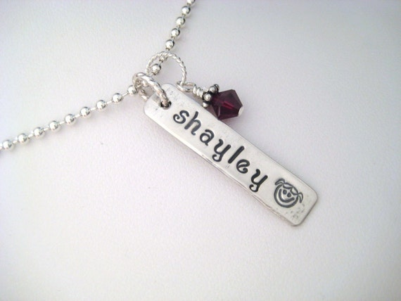Hand Stamped Jewelry - Personalized Charm - Add-a-charm - Additional Name Plate for Necklace