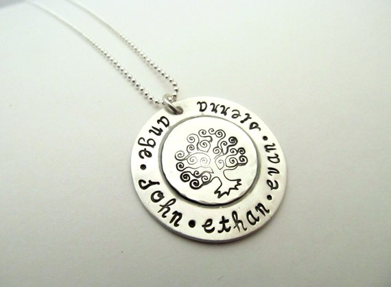 Tree of LIFE - Personalized Sterling Silver Soldered Necklace