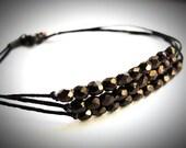 Coppery on Black bracelet