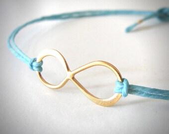Infinity bracelet in Gold Vermeil Friendship Bracelet bridesmaid gift