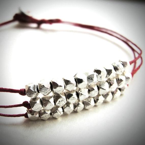 3 Silver Strands bracelet