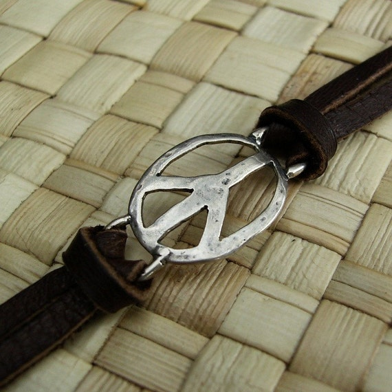 Sterling Peace Piece bracelet