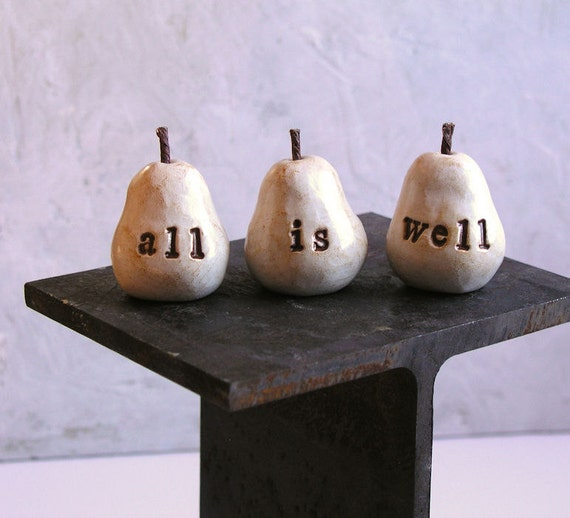 Vintage white all is well pears // Fun way to say I love you