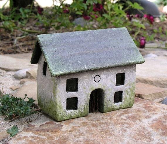 Handmade polymer clay fairy house...fairy houses...fairy gardens...English Country Cottage House