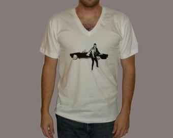 el luchador 007 v neck tshirt sz m l