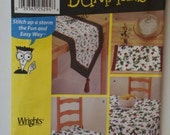 Simplicity 9876 Table Coordinates Pattern Tablecloth Table Runner Place Mats Chair Seat Pad and Ties