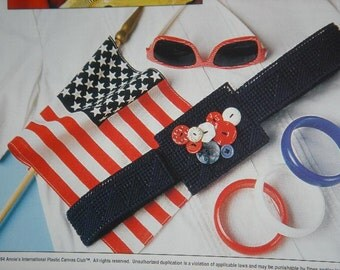 Button Belts Plastic Canvas Pattern with Free Shipping