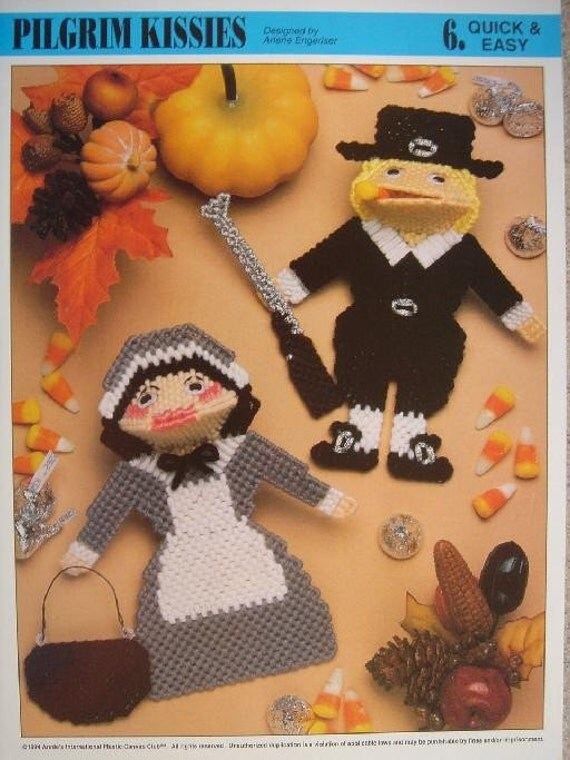 Pilgrim Kissies plastic canvas Pattern for Thanksgiving Table Favours to Set the Holiday Theme