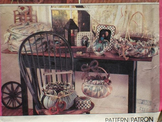 NEW Simplicity 9471 Crafts Pattern UNCUT to make Frames, Covered Boxes and Baskets