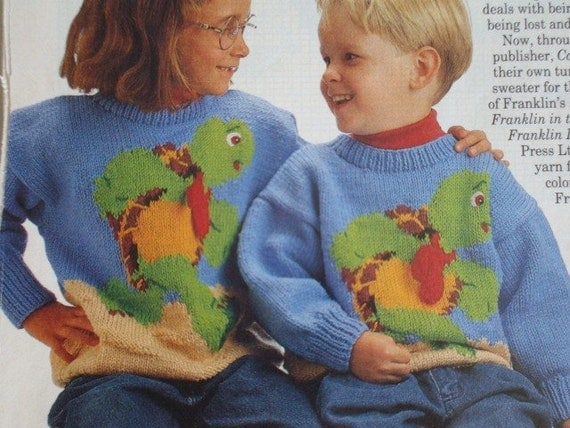 Franklin The Turtle Pullover Knitting Pattern And Franklin The