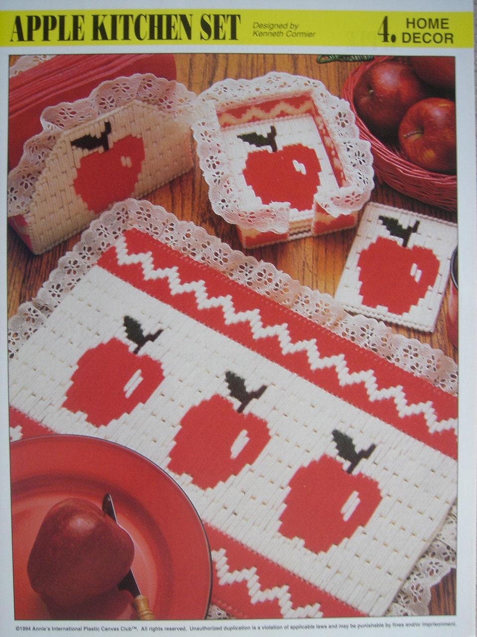 Apple Kitchen Set Plastic Canvas Pattern For Place Mat