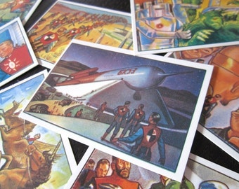 1950s SCI-FI / Fantasy / Outer Space Gum Cards (1985 Mint Condition) - Stocking Stuffer