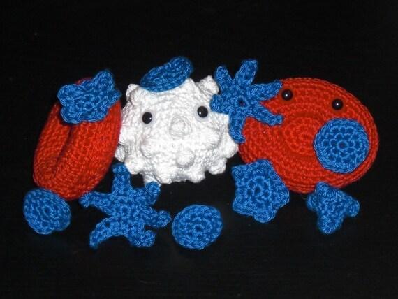 BLOOD CELLS Amigurumi Crochet Pattern Set PDF