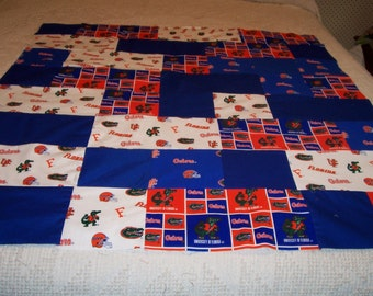 Florida Gators lap quilt top