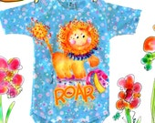 Mc Lion Onesie  or Tee top from original art by Rosanna Hope for Baby bon bons perfect baby shower gift
