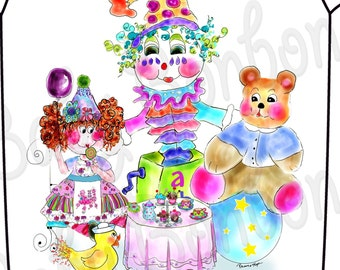 Adorable Toy Tea Party Onesie by Rosanna Hope for Babybonbons perfect for first birthday