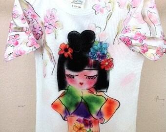 Jazzy Jasmine Baby Onesie original art by Rosanna Hope for Babybonbons