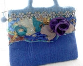 Funky Fabric Bag - Roses In The Sea