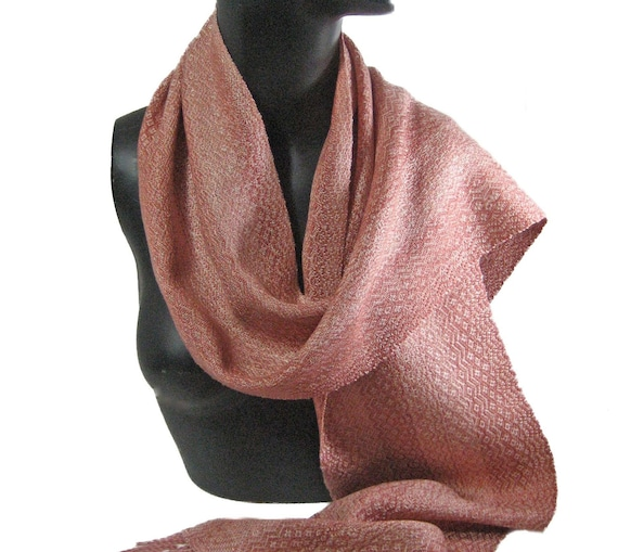 """Handwoven scarf """"Old Roses"""""""